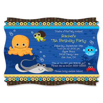 Under The Sea Critters - Personalized Birthday Party Invitations