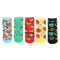 DC Comics Justice League No-Show Socks 5 Pair
