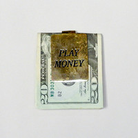 "Vintage Brass ""PLAY MONEY"" Money Clip"