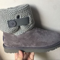 LFMON UGG 1012534 Women Men Fashion Casual Wool Winter Snow Boots Grey