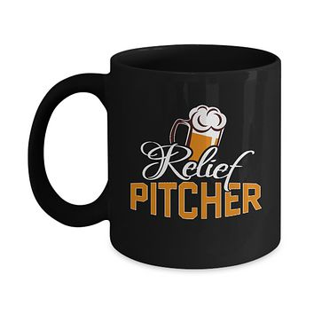 Relief Pitcher Beer Pint Glass Coffee Mug