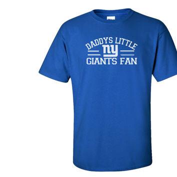 Blue Custom 1 Color Daddys Little NY New York Gians Fan Youth Child Kid toddler Football Tee Tshirt T-Shirt