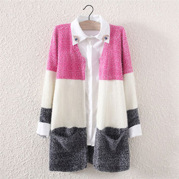 Womens Winter Warm Knit Sweater with Pockets