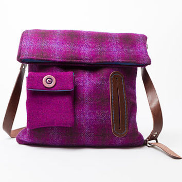 Harris Tweed Dog Walker Bag