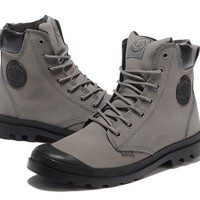 Palladium Pampa Cuff Wp Lux Men Martin Boots Leather Grey Black