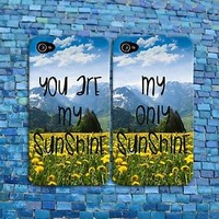 Flower Quote Sunshine Cute Summer BFF Gf Bf Pair Case iPhone Phone Cover Cool