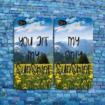 Flower Quote Sunshine Cute Summer BFF Gf Bf Pair Case iPhone 4 4s 5 5s 5c 6 6s +