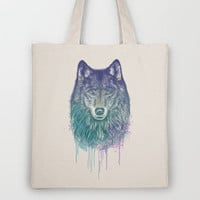 I Dream of Wolf Tote Bag by Rachel Caldwell | Society6