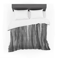 """Brienne Jepkema """"Daises"""" Gray Flowers Featherweight Duvet Cover"""