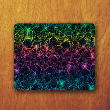 Geomatric Galaxy Mouse Pad Beautiful Abstract Hipster MousePad Office Pad Work Accessory Personalized Custom Gift