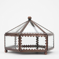 Urban Outfitters - Glass Hexagon Jewelry Box