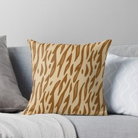'Animal Print Pattern – Tiger 3' Throw Pillow by poisondesign