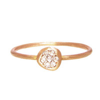 LFrank: Tiny Diamond Disc Ring in Rose Gold - YLANG 23 - Ylang 23