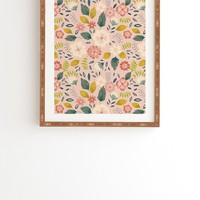 Pimlada Phuapradit Summer floral pink Framed Wall Art