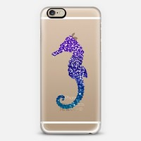 MERMAIDIA Seahorse Crystal Clear iPhone 6 case by Monika Strigel | Casetify