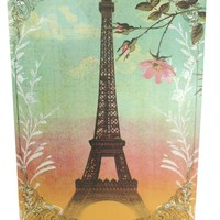 Vintage Inspired Art Love Paris - Eiffel Tower Wall Art with Message