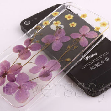 iPhone 6 case iPhone 6 plus Pressed Flower, iPhone 5/5s case, iPhone 4/4s case,  5c case Galaxy S4 S5 Note 2 note 3 Real Flower case NO:F76