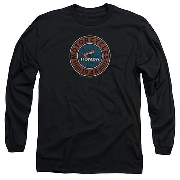 Honda Long Sleeve T-Shirt 1948 Vintage Motorcycle Oil Black Tee