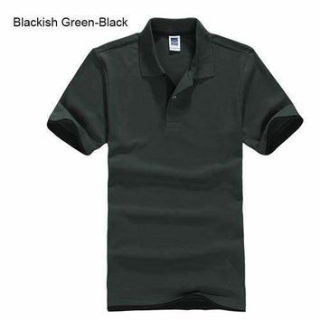 Dark Green with Black Men's/ Women's Polo Shirt XS-3XL