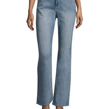 NYDJ Barbara Boot-Cut Faded Jeans, Blue