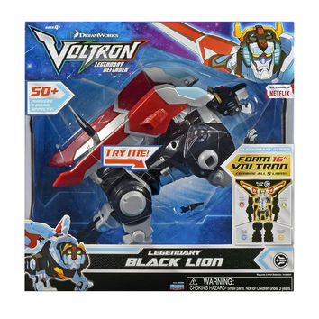 "Voltron Legendary Defender (2017) Electronic Black Lion 8"" Action Figure"