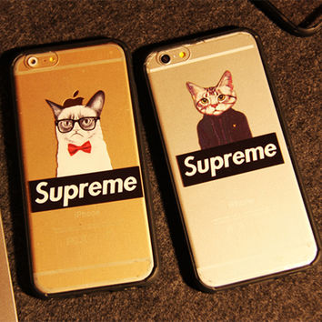 Supreme Cat Case for iPhone