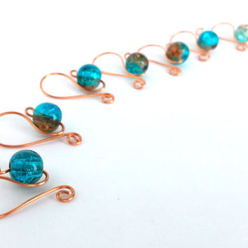 Wire Stitch Markers // Removable Row Counters // Knitting Needle Size US 13