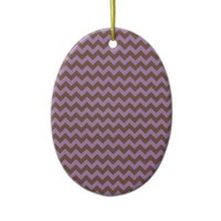 African Violet And Brown Chocolate Chevron Ornament from Zazzle.com