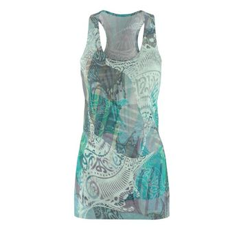 Hawaiian Tribal Ray DressWomens Cut  Sew Racerback Dress