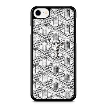 Goyard Black White Iphone 8 Case