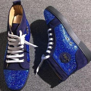 VON3TL Cl Christian Louboutin Rhinestone Style #1970 Sneakers Fashion Shoes