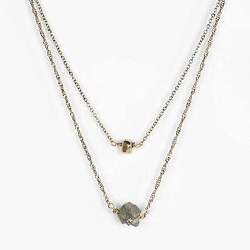 Stone High/Low Necklace