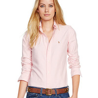 Polo Ralph Lauren Slim Fit Long-Sleeve Oxford Shirt | macys.com