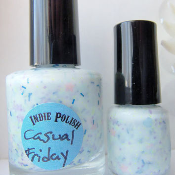 Casual Friday Nail Polish -  full size bottle  - Handmade - opaque