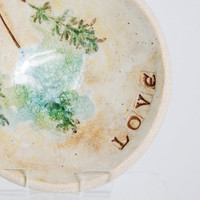 Valentine's Love Pottery Dish Ring Bowl