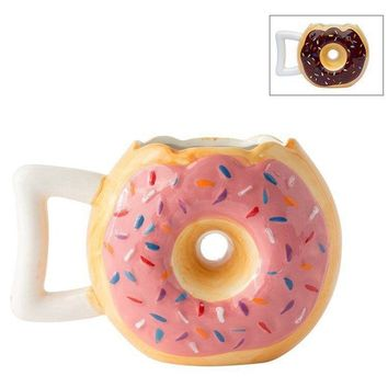 Ceramic Donut Mug Cookies Mugs Art Handmade Cups Gift