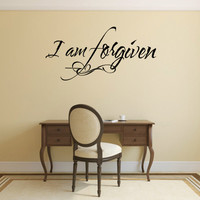 Christian Wall Decal. I'm Forgiven - CODE 134