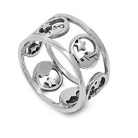 925 Sterling Silver Star and Crescent Faith Ring