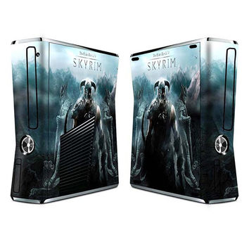 Elder scroll skyrim sticker skin set for xbox 360 slim