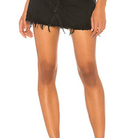 AGOLDE Quinn High Rise Skirt in Black Rock | REVOLVE