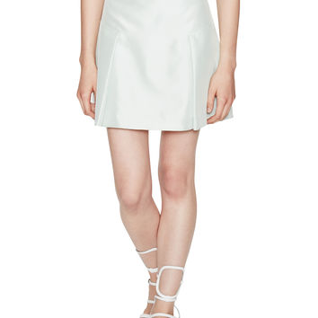 Structured Silk Mini Skirt