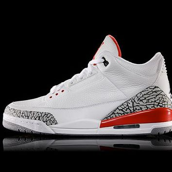 Best Deal Online Nike Air Jordan Retro 3 KATRINA White/Cement Grey/Black-Fire Red 136064-116