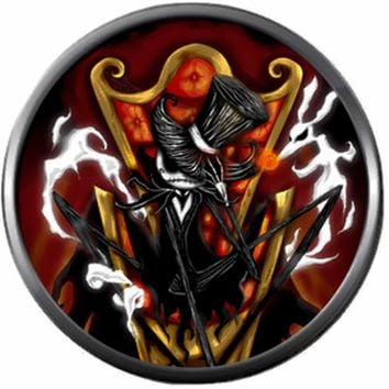 Cool Pumpkin King Jack Skellington Halloween Town Nightmare Before Christmas 18MM - 20MM Charm for Snap Jewelry New Item