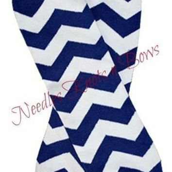 Blue Chevron Leg Warmers, Boys, Girls, Baby Accessories, Toddlers, Legwarmers