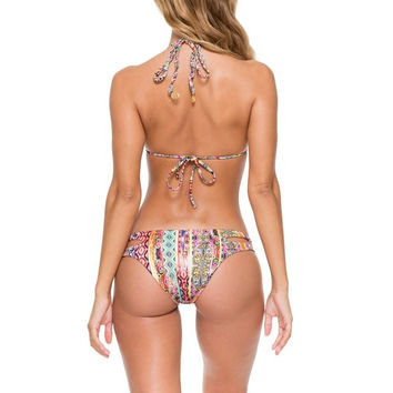 Luli Fama My Way Reversible Zig-Zag Open Side Moderate Bottom