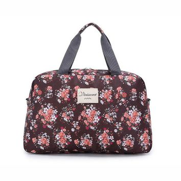 Sports gym bag Women Lady Large Capacity Floral Duffel Totes Sport Bag Multifunction Portable Sports Travel Luggage Gym Fitness Bag 5 Colors KO_5_1