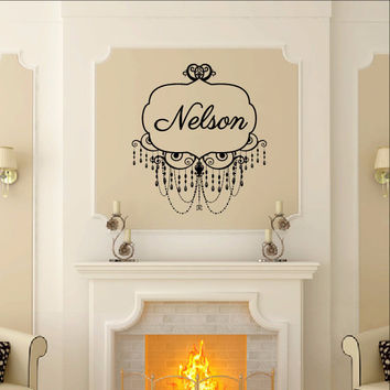 Chandelier Frame Style A Custom Name Decal - Family Name Decal 22504