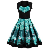 Gorgeous Printed Vintage Dress