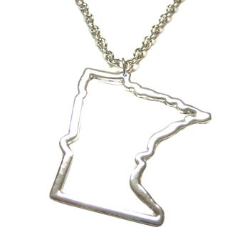 Minnesota State Map Pendant Necklace