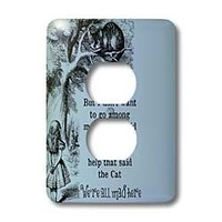 3dRose lsp_110388_6 Alice And Cheshire Cat In Tree Alice In Wonderland 2 Plug Outlet Cover